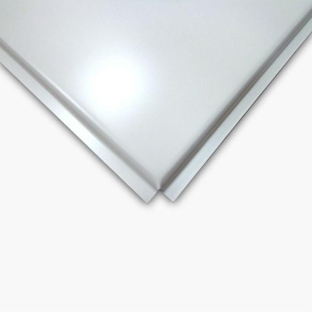 Кассетный потолок албес - белый стальной 600х600