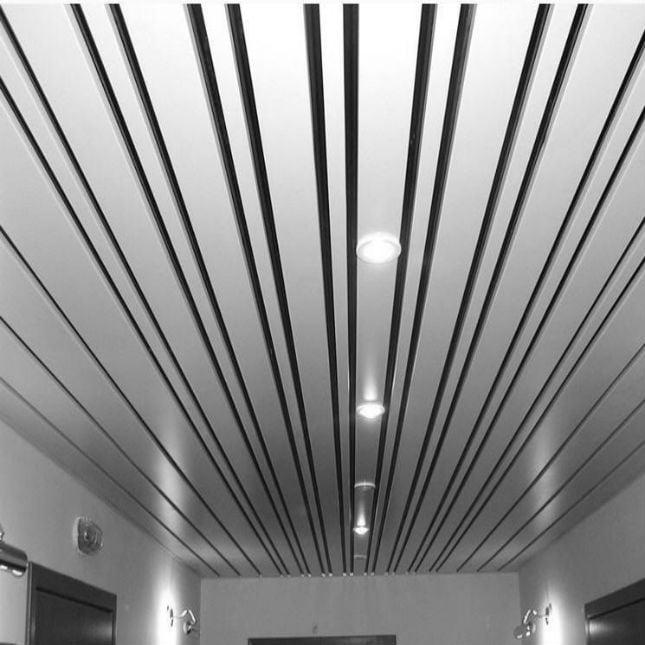 Прямоугольный реечный потолок Албес
