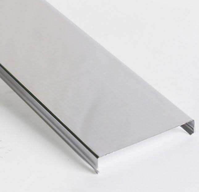 Реечный потолок открытого типа AN85 A рейка белая матовая